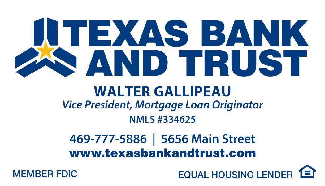 Texas Bank & Trust - Walter G.